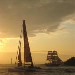 Första seglatsen, 3 båtar från Fisksätra till Nacka Strand var magisk!
